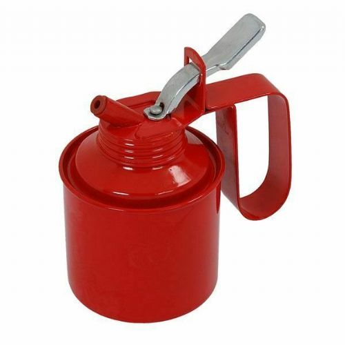 1/2 PINT OIL CAN GARAGE THUMB PUMP LEVER ACTION METAL STEEL WITH FLEXIBLE SPOUT